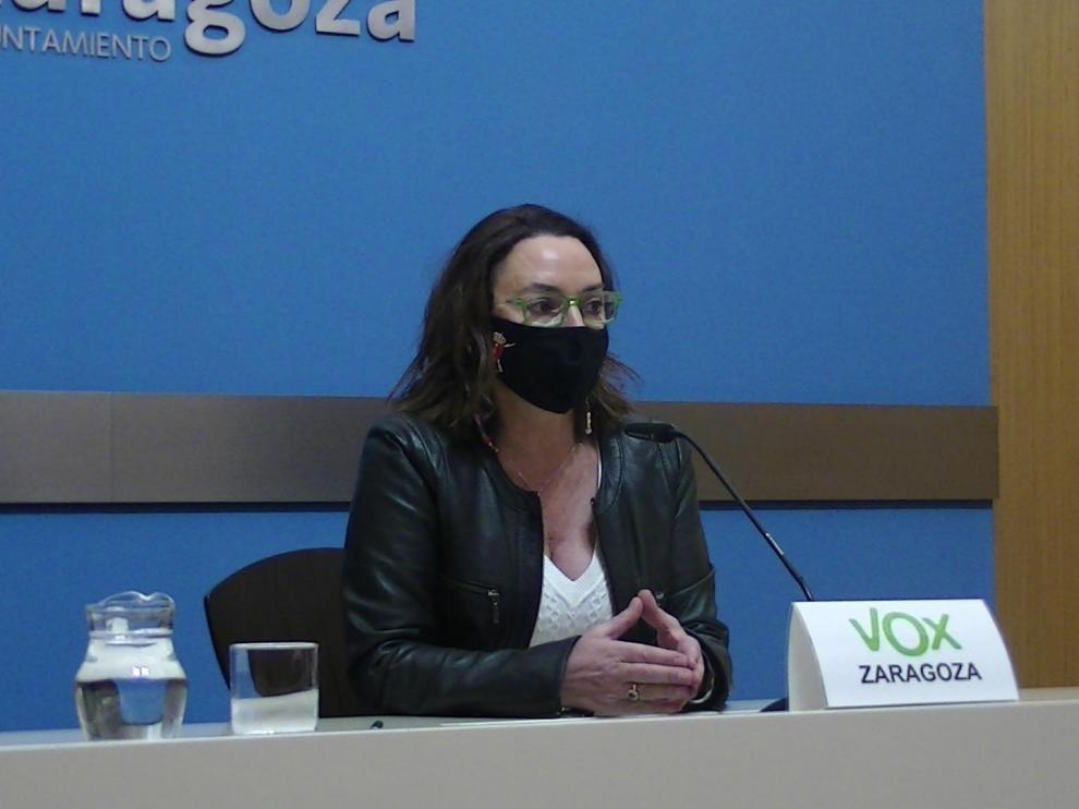 La concejala de Vox en el Ayuntamiento de Zaragoza Carmen Rouco.