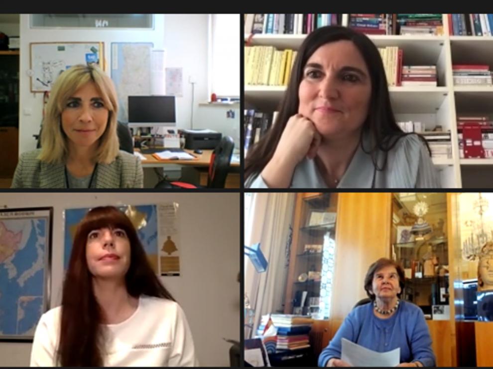Ana Usieto, Mavi Doñate, Amparo Polo, Belén Lorente y Beatriz Navarro
