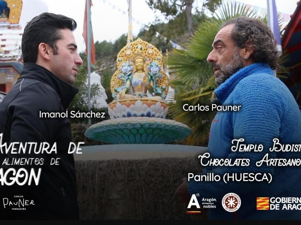 Carlos Pauner e Imanol Sánchez, imagen de 'La aventura de los alimentos de Aragón'