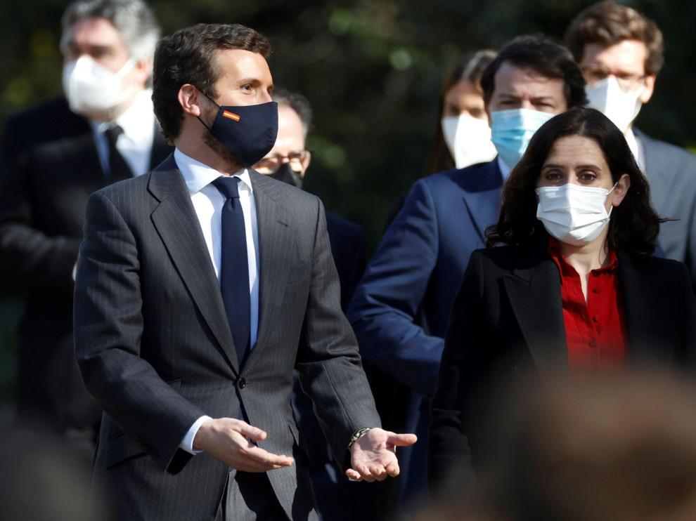 Pablo Casado e Isabel Díaz Ayuso en Madrid