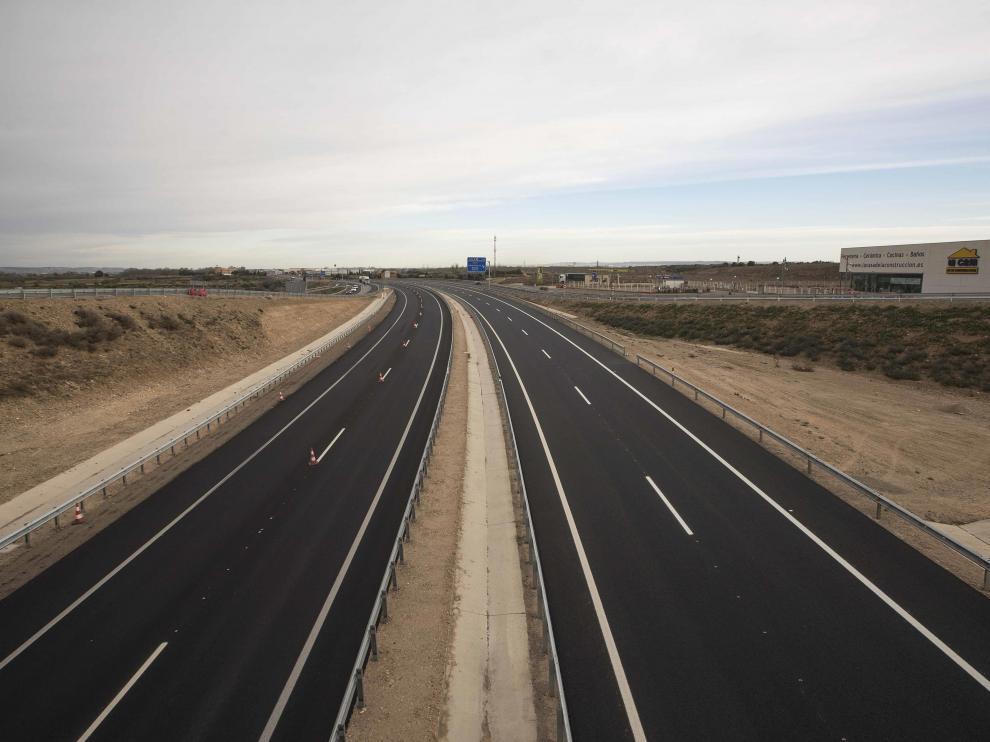 Una vista del nuevo tramo Figueruelas-Gallur de la autovía A-68.