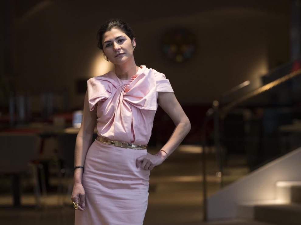 La diseñadora María Barros, en Zaragoza.