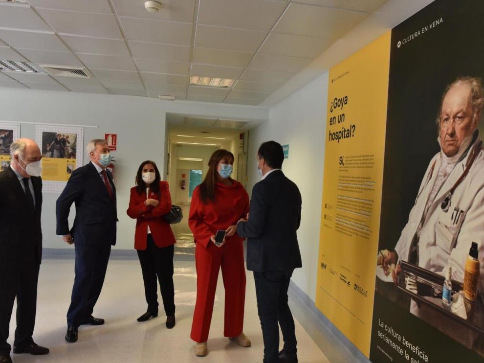 El Miguel Servet ha inaugurado la exposición itinerante '¿Goya en un hospital?'