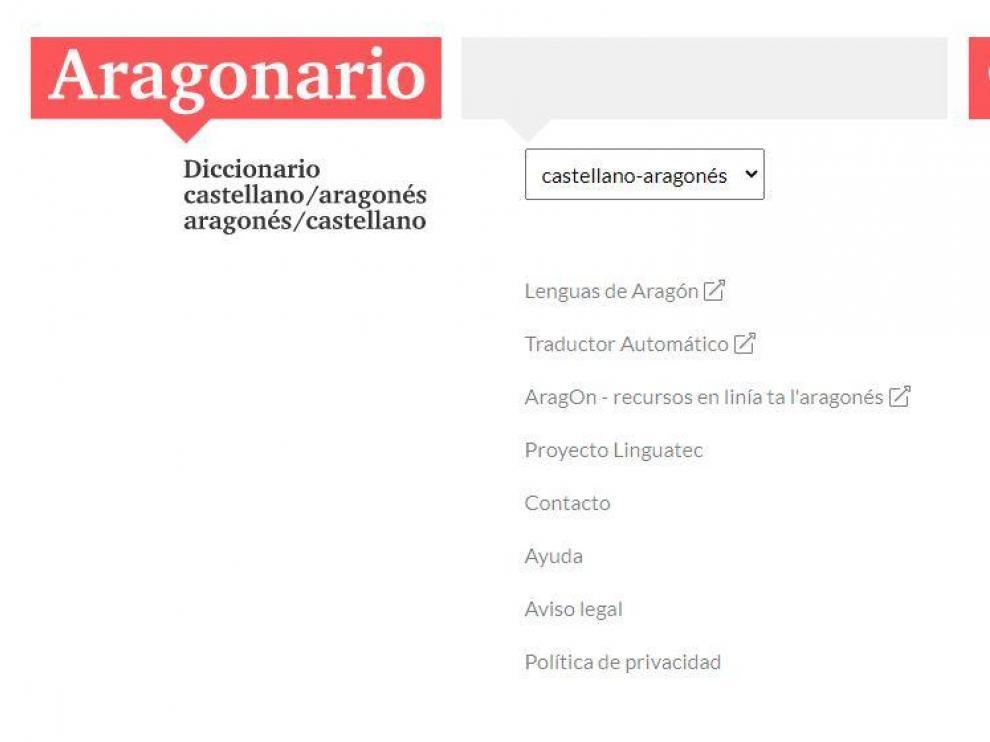 Captura de la web de 'Aragonario'.