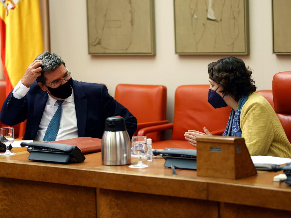 José Luis Escrivá en comisión de seguimiento del Pacto de Toledo