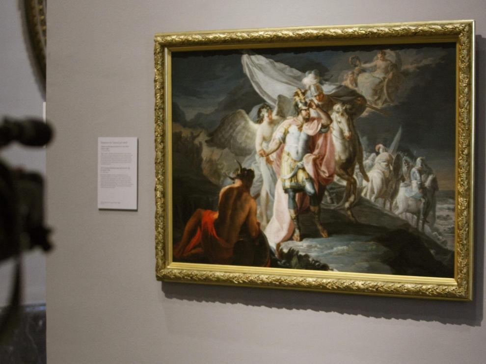 El cuadro, cuando llegó en 2011 al Museo del Prado, donde se exponía en depósito desde entonces