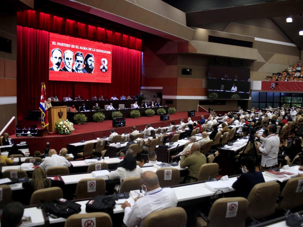 Inauguración del VIII Congreso del Partido Comunista de Cuba.