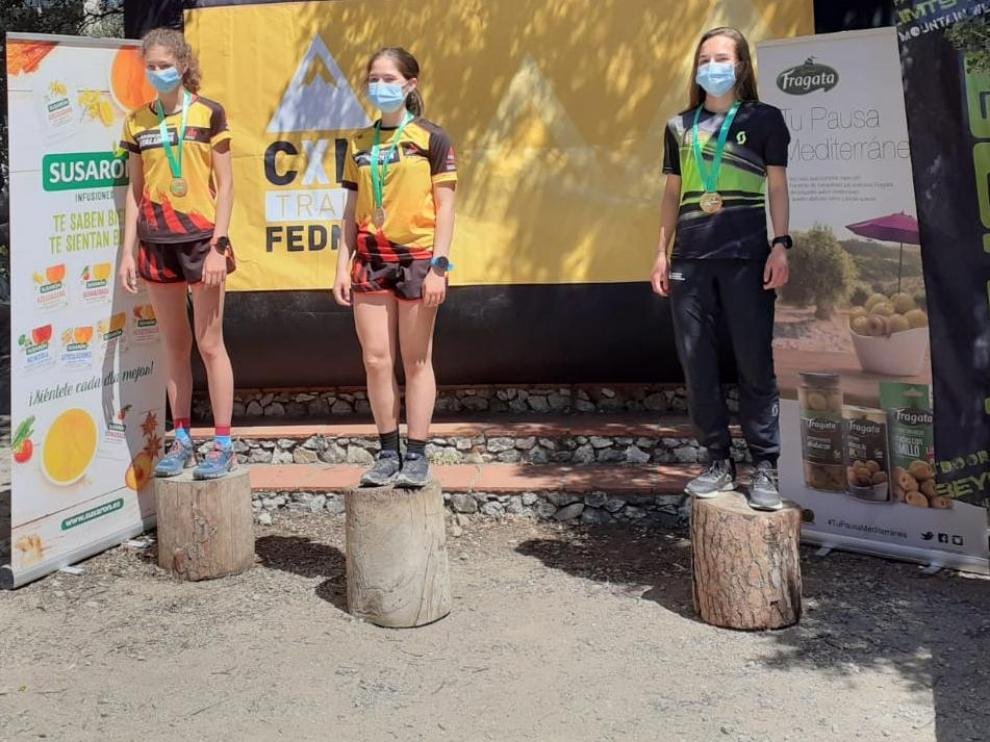 Carrodilla Cabestre, bronce en la primera cita de la Copa de España de carreras por montaña, en la categoría juvenil