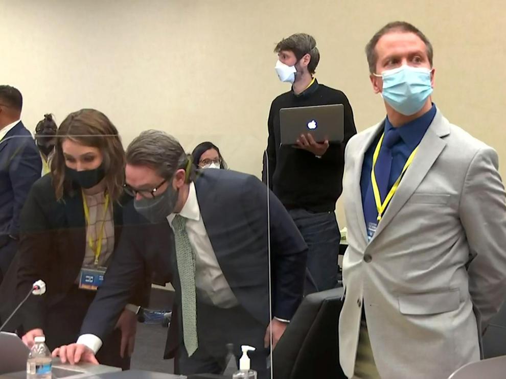 Derek Chauvin, en un momento del juicio contra él.