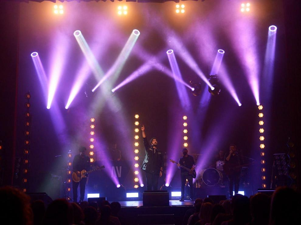 Primer concierto de la gira de Antonio Orozco con su disco 'Aviónica' en el Teatro la Latina de Madrid.