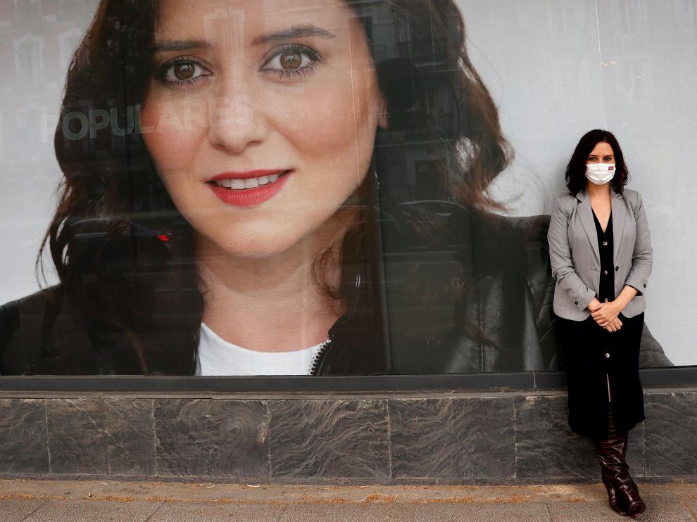 La presidenta madrileña y candidata del PP a la reelección, Isabel Díaz Ayuso