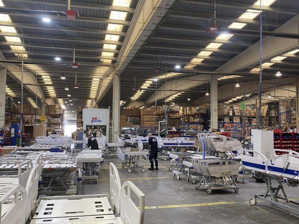 Instalaciones de Industrias Pardo en el polígono Centrovía de La Muela.