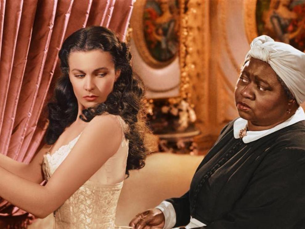 Vivien Leigh, en una escena de 'Lo que el viento se llevó'.