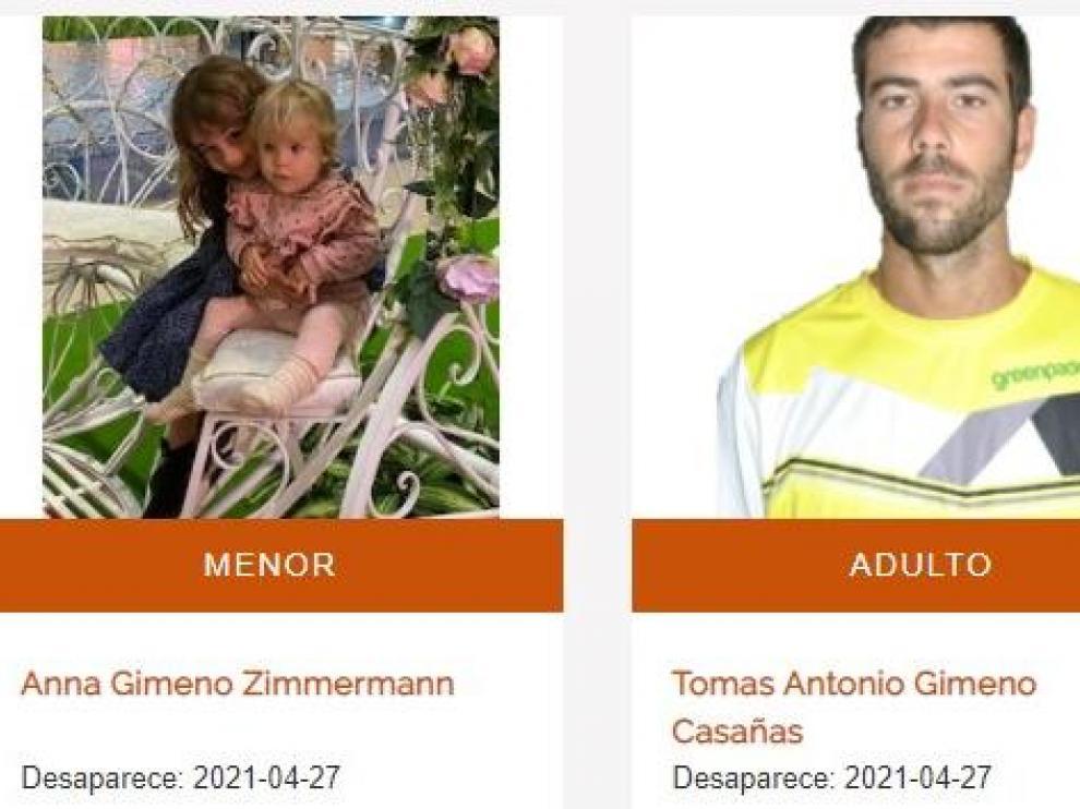 Tomás Antonio Gimeno y sus hijas, Anna y Olivia.