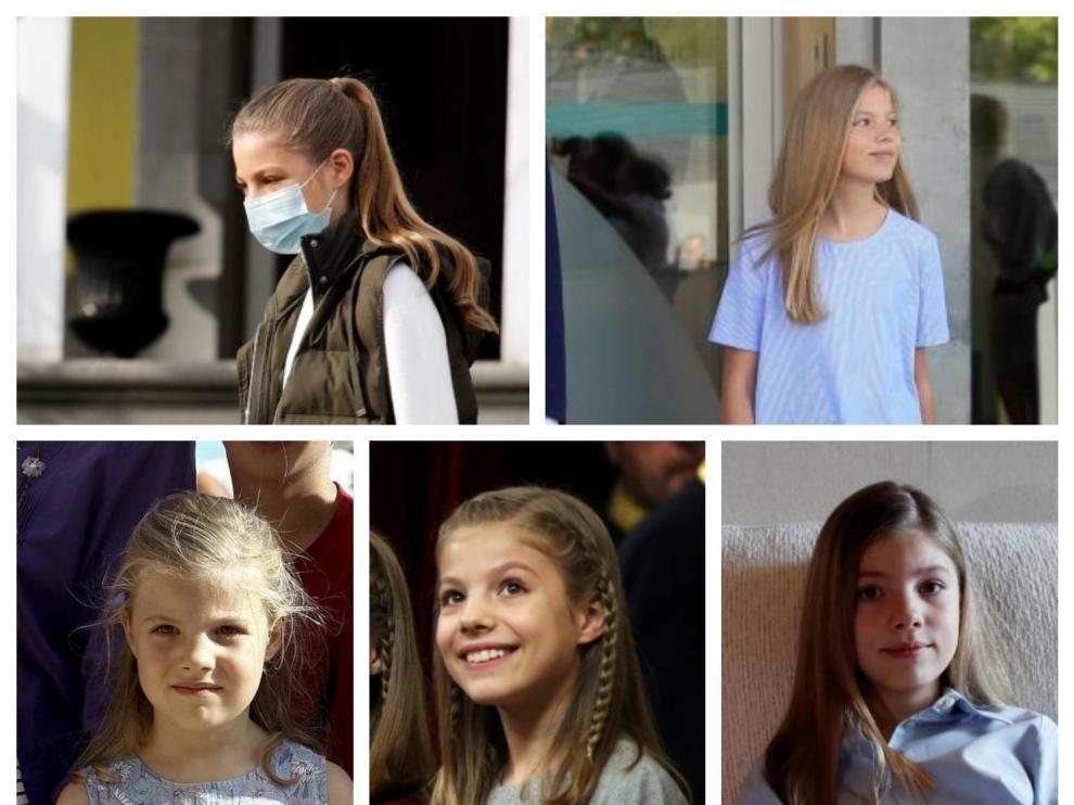 Combo de fotos de la infanta Sofía en los últimos años