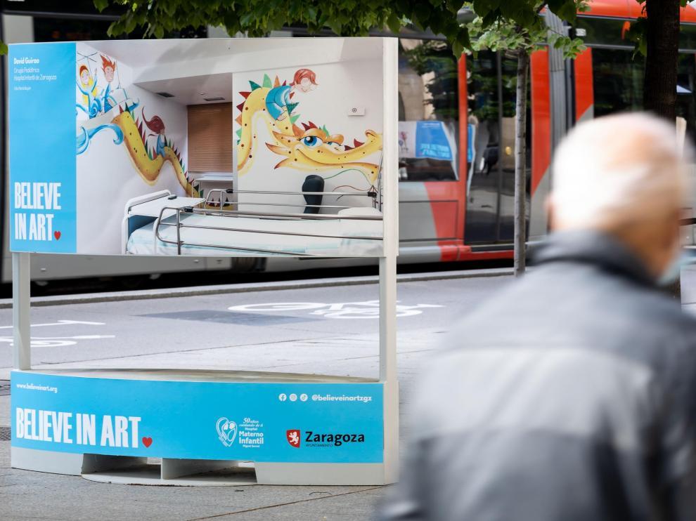 El trabajo de Believe in Art en hospitales se expone en el paseo de la Independencia hasta el 30 de mayo