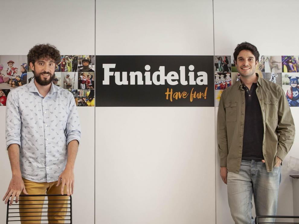 Toño Escartín y Carlos Larraz, fundadores de Funidelia.