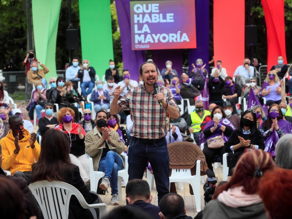 Acto electoral de Unidas Podemos