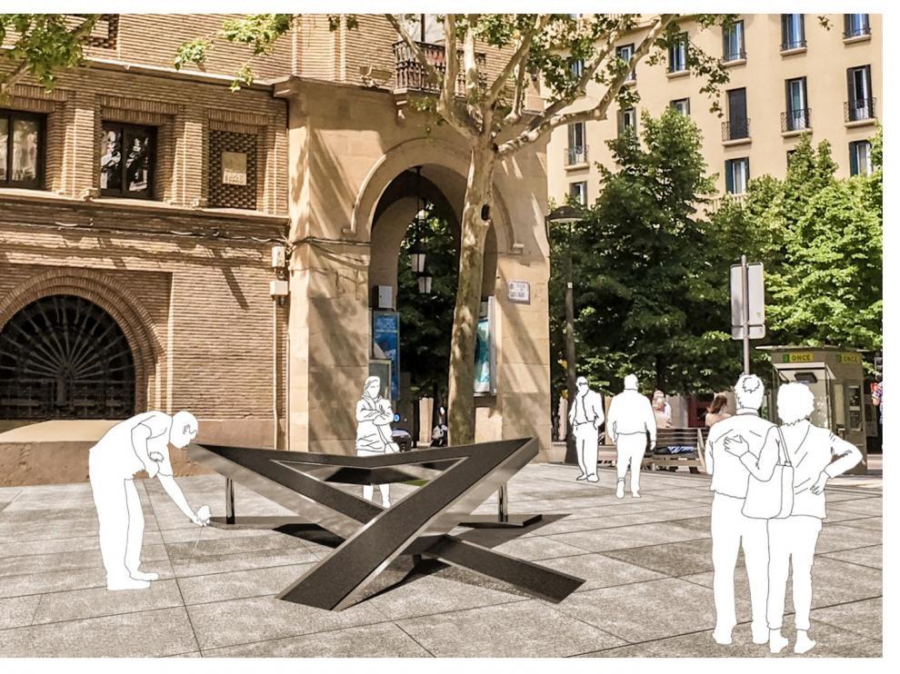 Una recreación del memorial que se colocará en los próximos días.