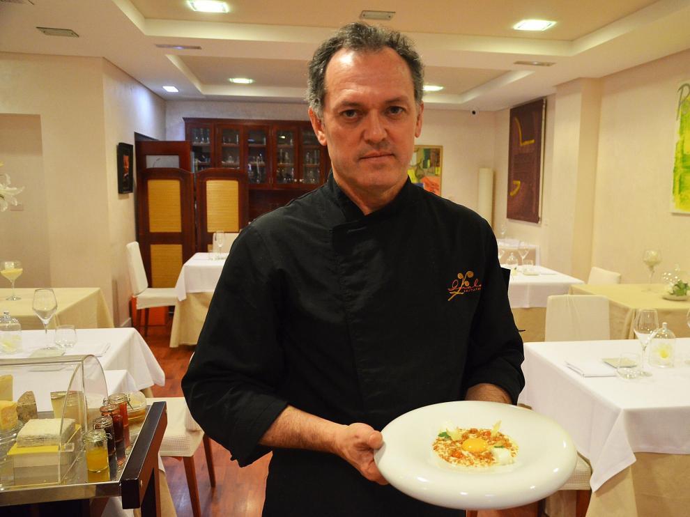 Jorge Lara, del restaurante Goralai, con la receta de ajoarriero con curry rojo.