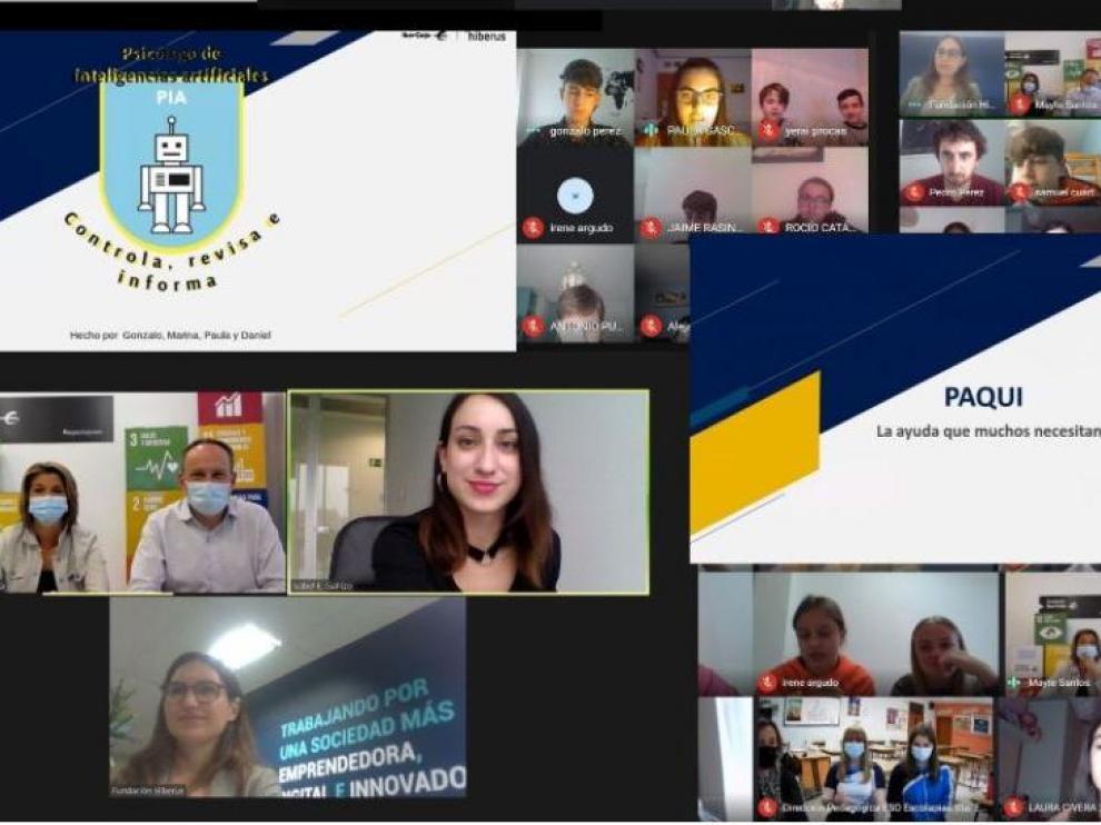 Fundación Hiberus y Fundación Ibercaja premian tres trabajos de estudiantes aragoneses