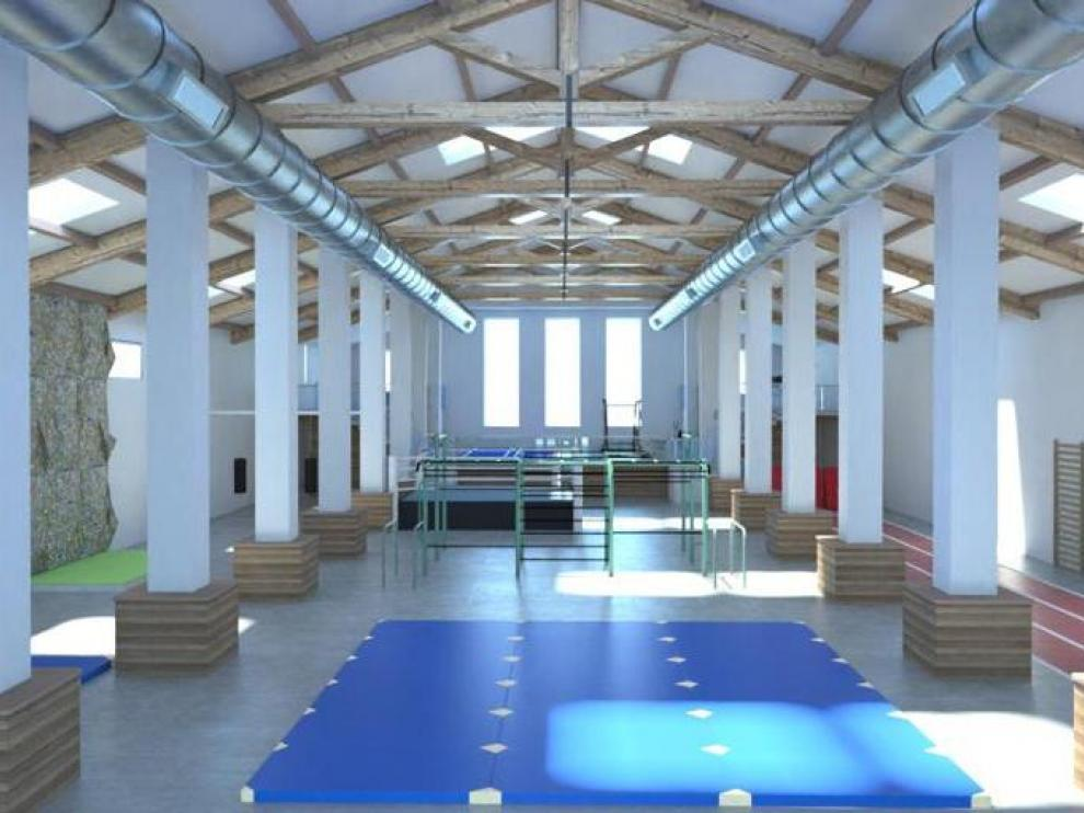 Aspecto que tendrá el nuevo gimnasio municipal.