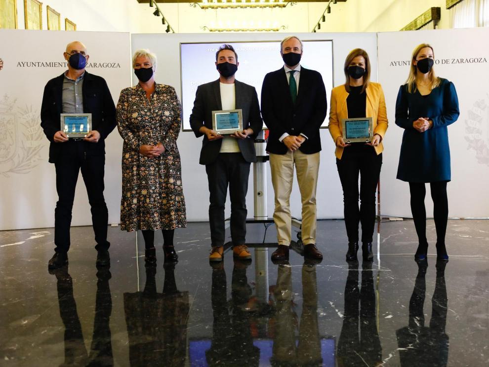 Entrega de los Premios Periodistas de Aragón-Ciudad de Zaragoza en el Día de la Libertad de Prensa