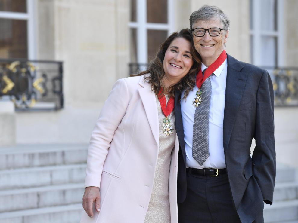 Foto de archivo de Bill y Melinda Gates