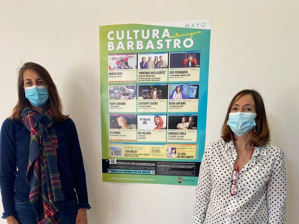 Blanca Galindo y Ana Escartín, concejal y técnico de Cultura