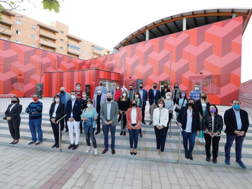 Inauguración del Centro Cívico Distrito Sur con la presencia del alcalde de Zaragoza, Jorge Azcón