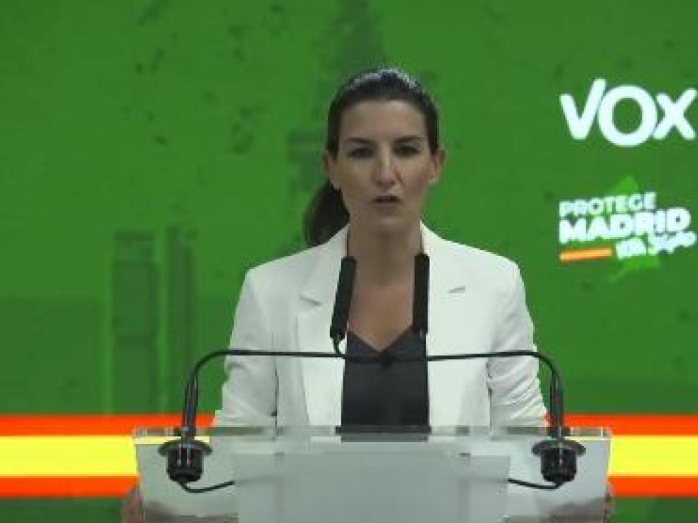 Rocio Monasterio hace la primera valoración del resultado electoral