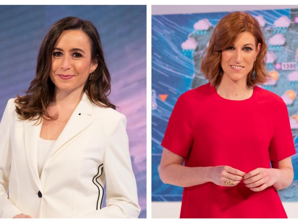 Silvia Laplana (izquierda) y Nuria Seró, meteorólogas de TVE.
