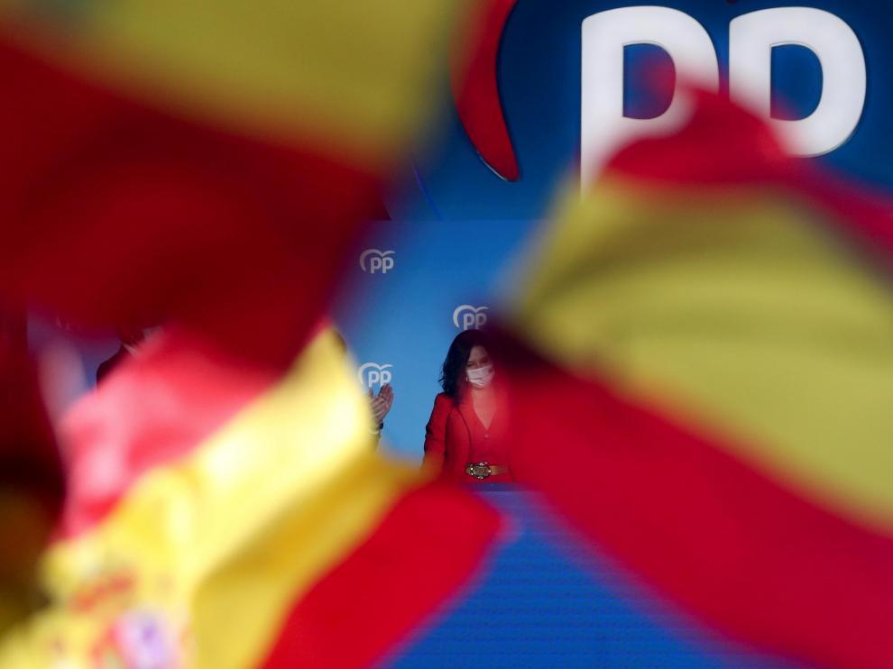 Isabel Díaz Ayuso, ganadora de las elecciones