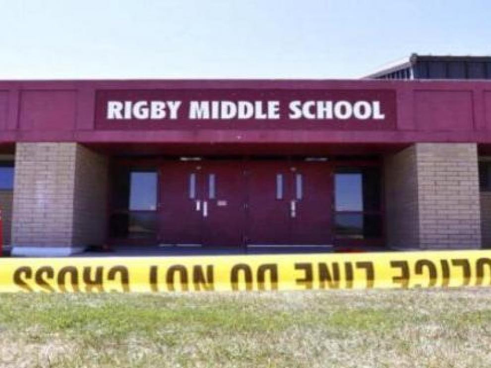 La Rigby Middle School de la localidad de Rigby, en Idaho, donde ocurrió el tiroteo.