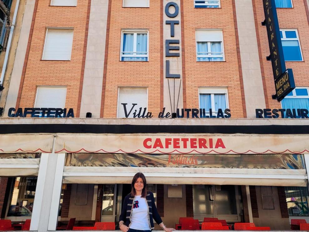 Ana Moreno es una de las hijas de los fundadores del Hotel Villa de Utrillas, del que ahora está al frente.