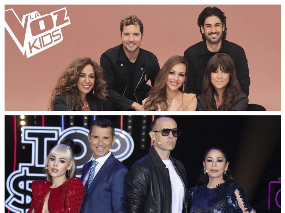 Varios famosos integran los jurados de ambos programas