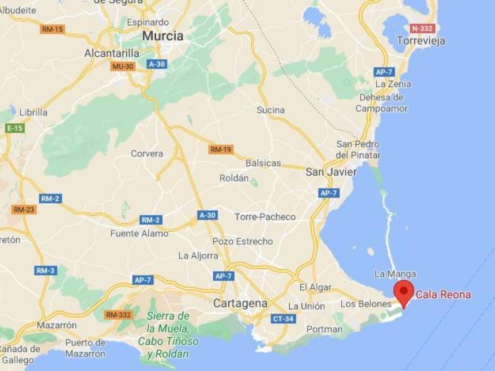 El suceso ha tenido lugar esta mañana en Cala Reona en Cartagena (Murcia).