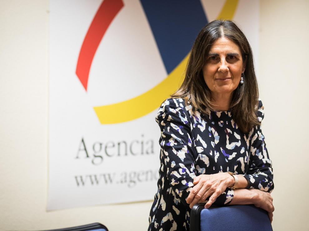 Paloma Villaro, delegada de la Agencia Tributaria en Aragón.