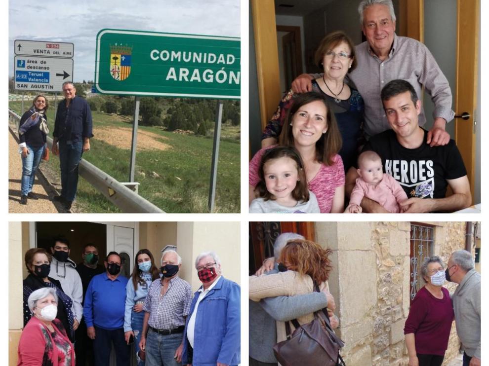 Cuatro historias de reencuentros tras la apertura de las fronteras en Aragón.