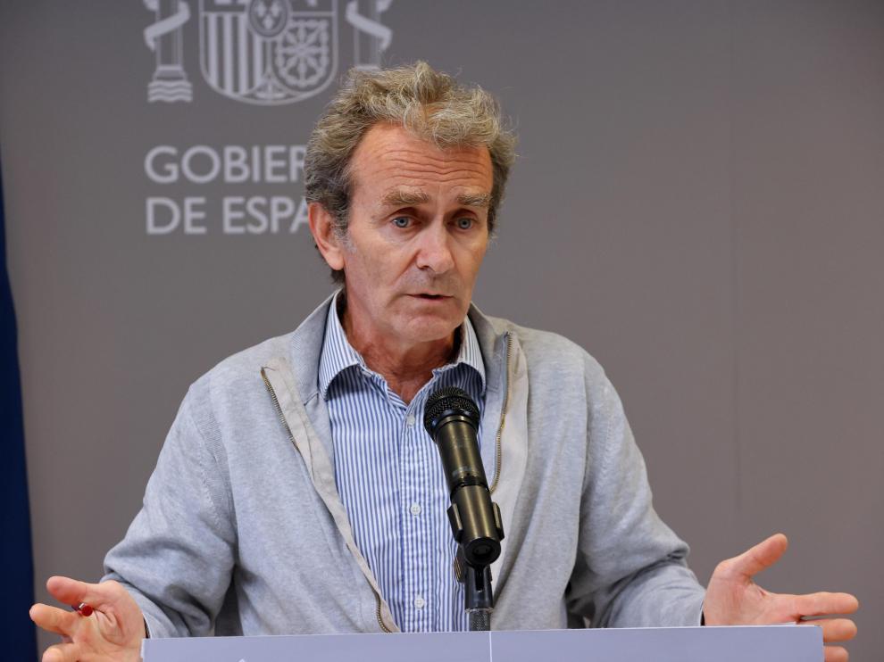 Fernando Simón, durante su comparecencia de este lunes, 10 de mayo.