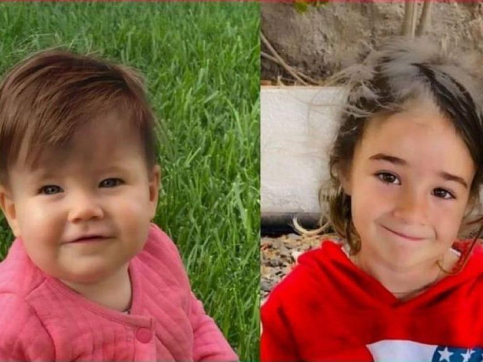 Anna y Olivia, en una recreación con el pelo teñido de castaño.