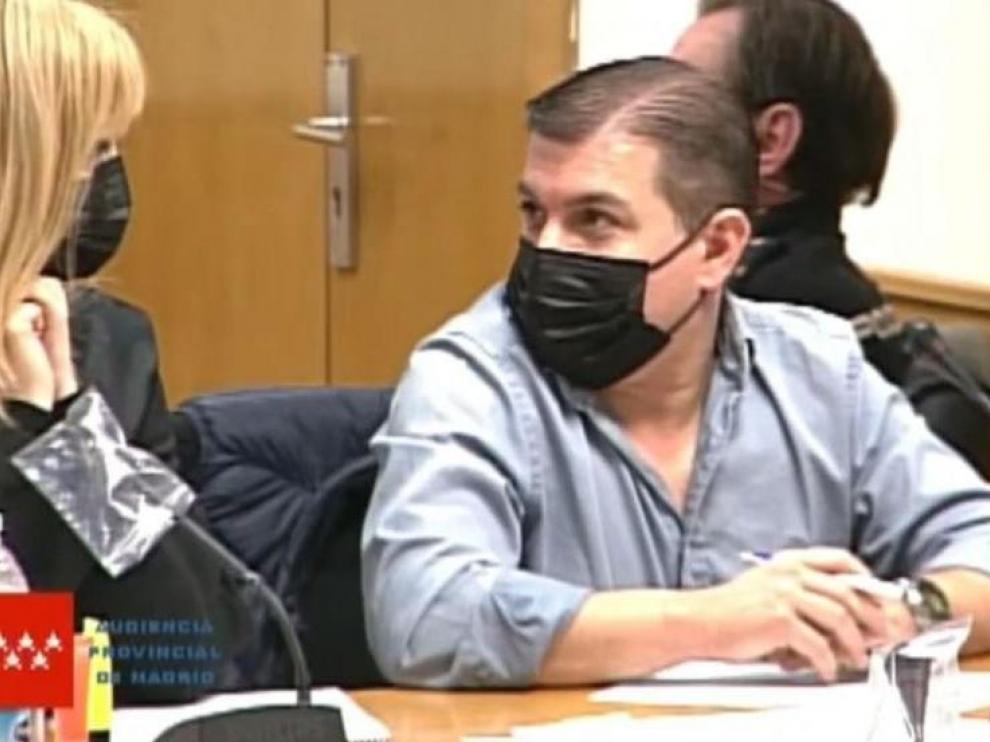 César Román, durante la sesión del juicio de este jueves.