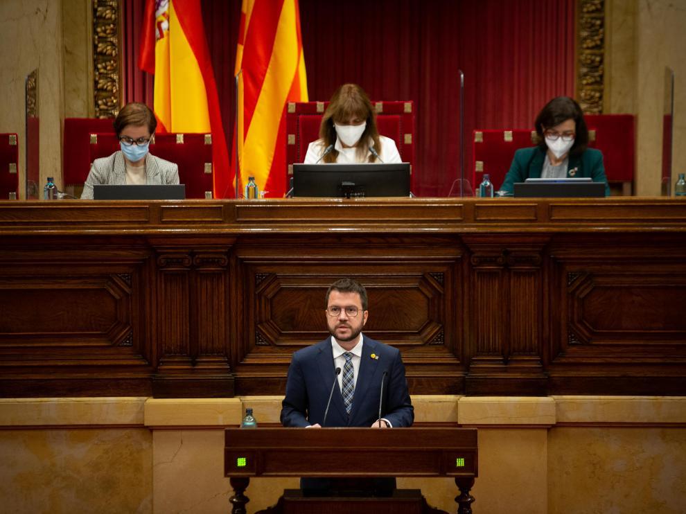 Pere Aragonès, este jueves en la sesión de control al Govern