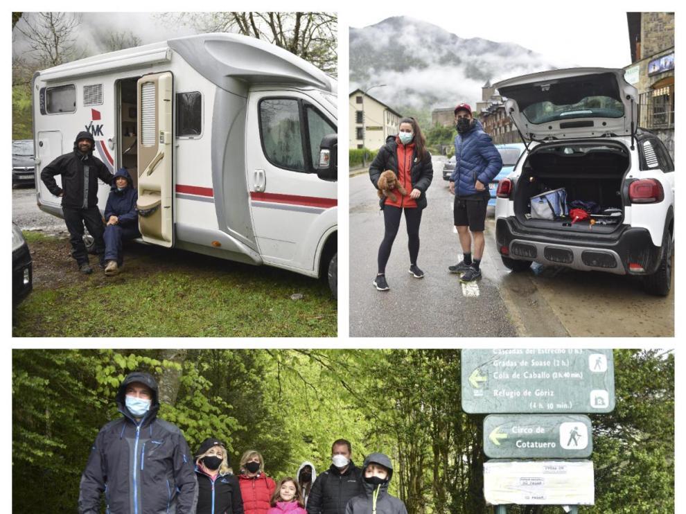 Visitantes de fuera de Aragón en el Pirineo en el primer fin de semana completo tras acabar el estado de alarma.