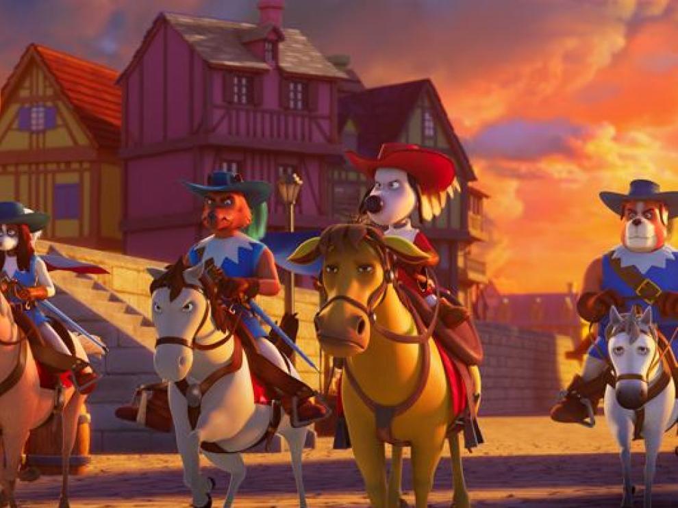 Fotograma de la película de animación 'D'Artacan y los tres mosqueperros'.