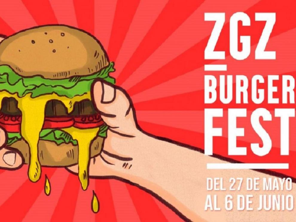 Cartel del Zaragoza Burger Fest 2021.