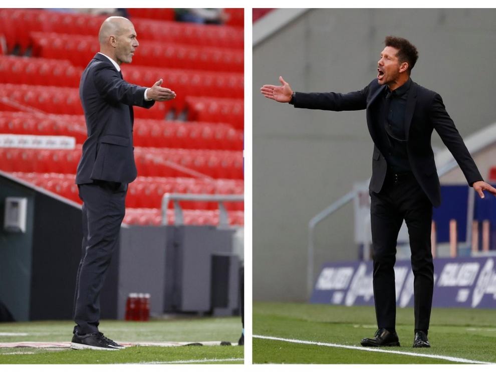 Combo de fotos de Zidane y Simeone