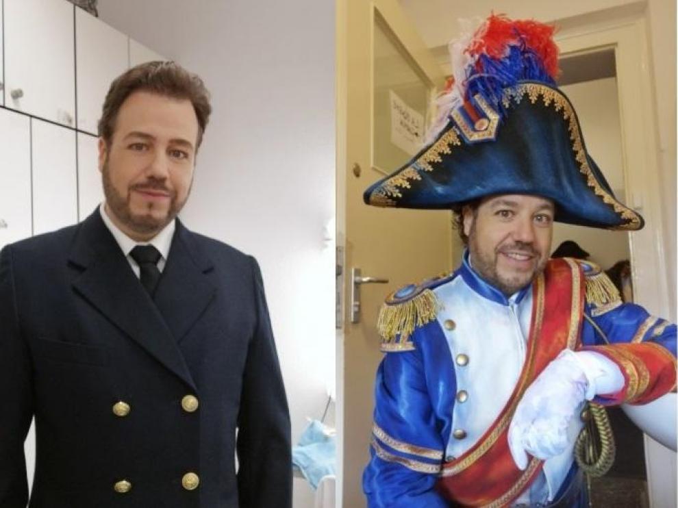 Eduardo Aladrén, caracterizado para los papeles de Pinkerton ('Madama Butterfly'), Rodolfo ('La Bohème'),
