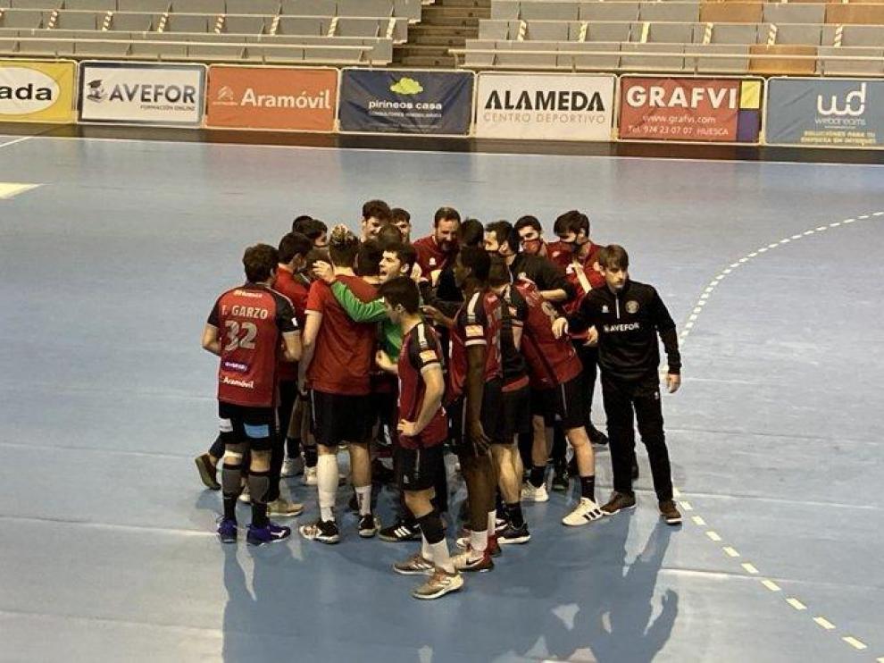 Los jugadores del segundo equipo del BM Huesca.