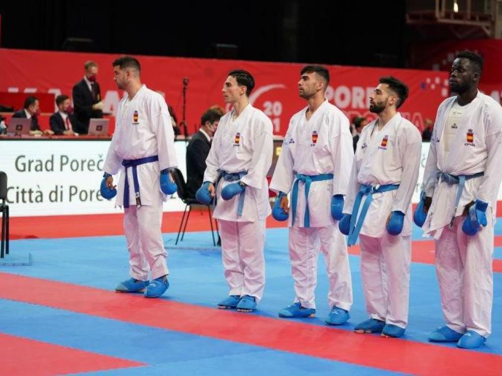 El equipo de kumite en el Europeo